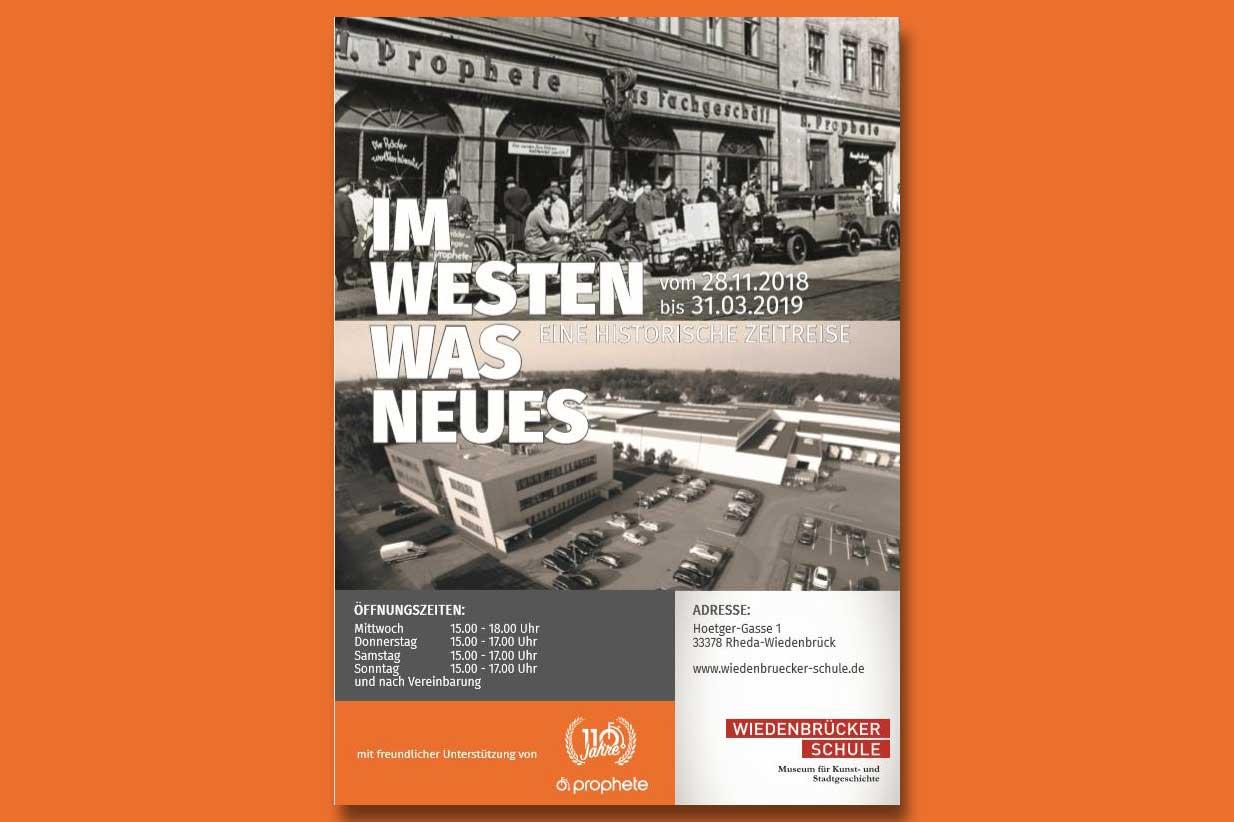 Plakat Ausstellung Im Westen was Neues im Wiedenbrücker Museum