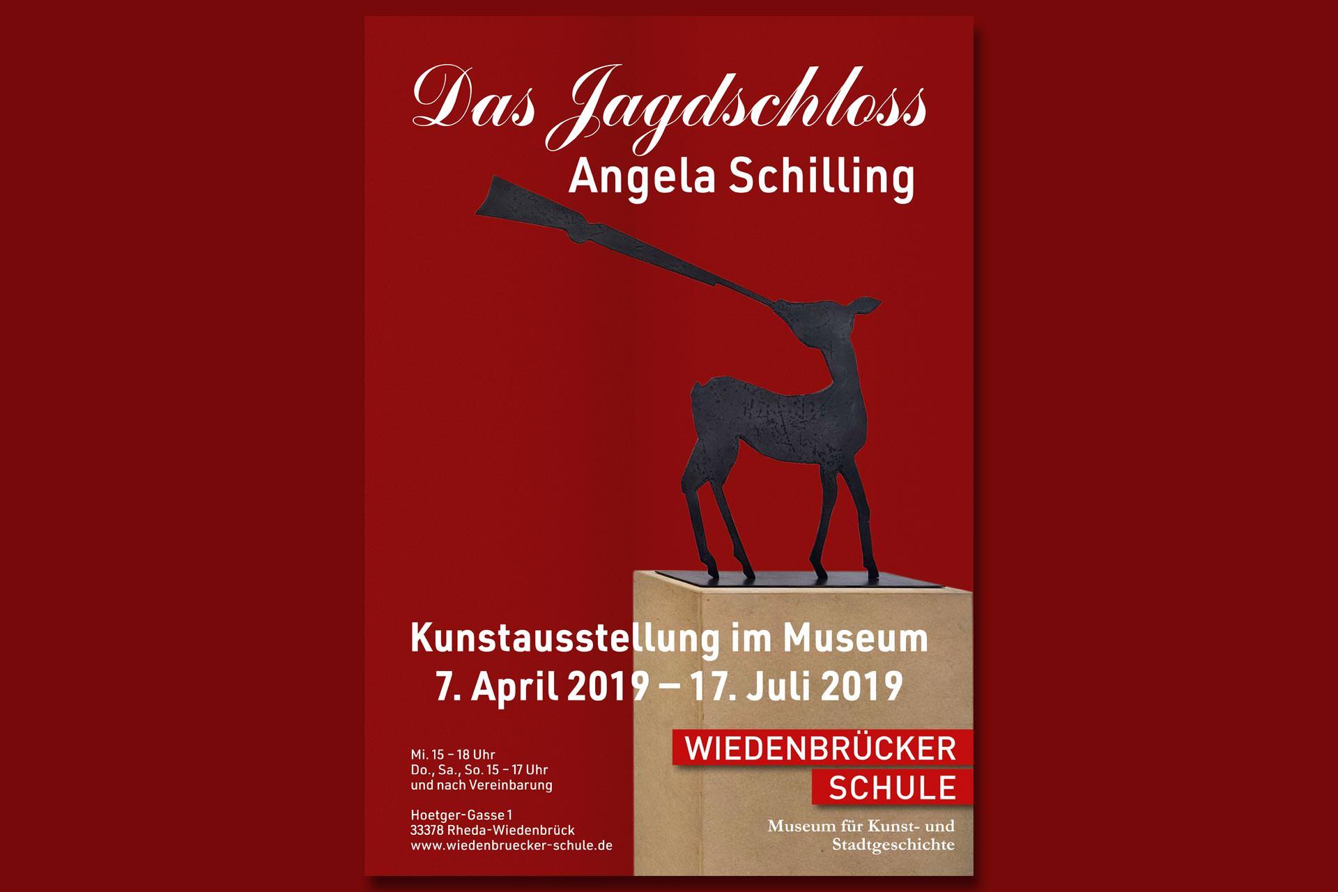 Plakat Ausstellung Das Jagschloss Angela Schilling