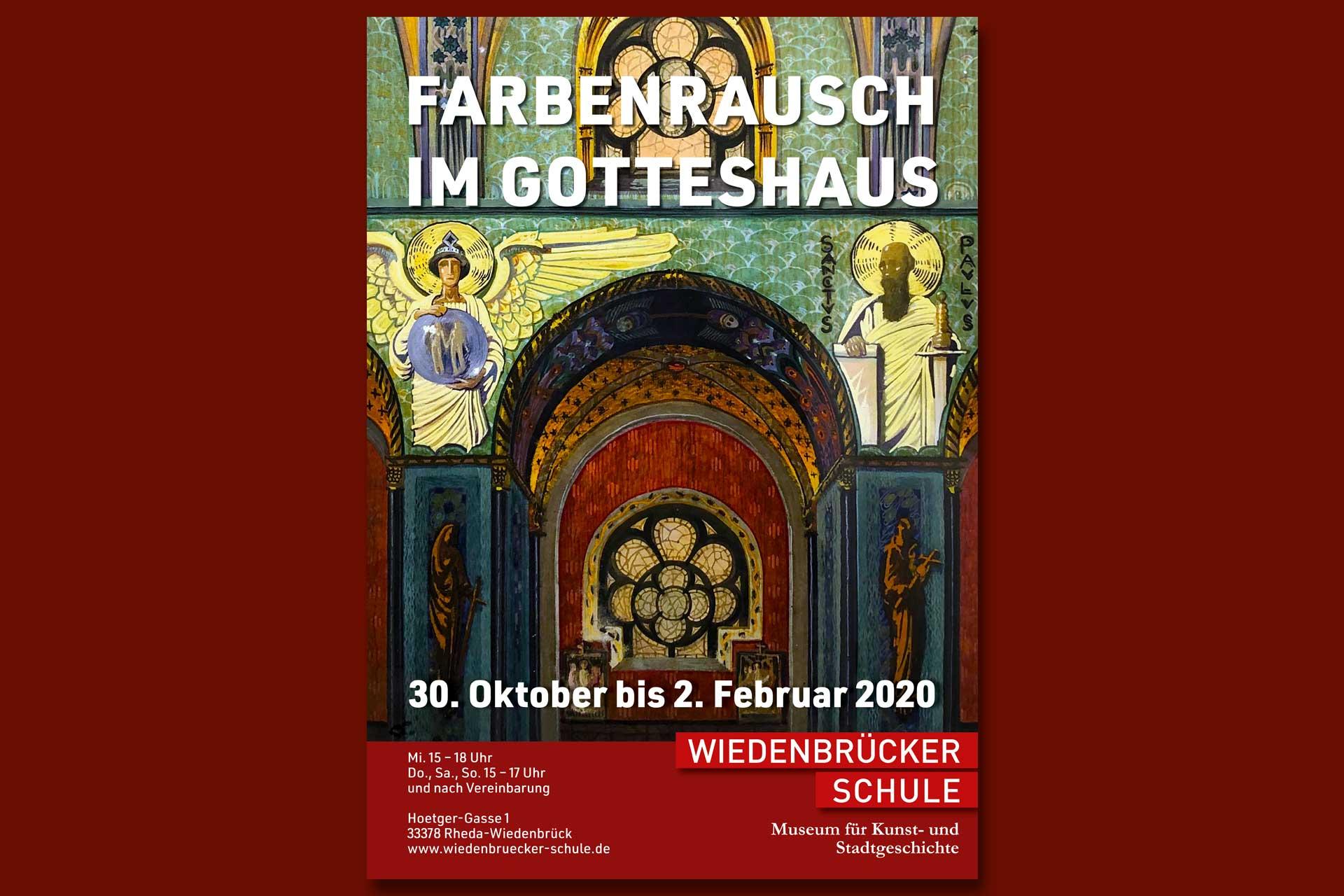 Plakat der Ausstellung Farbenrausch im Gotteshaus