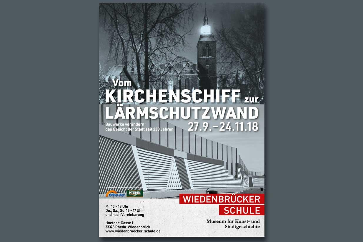 Plakat Ausstellung Vom Kirchenschiff zur Lärmschutwand