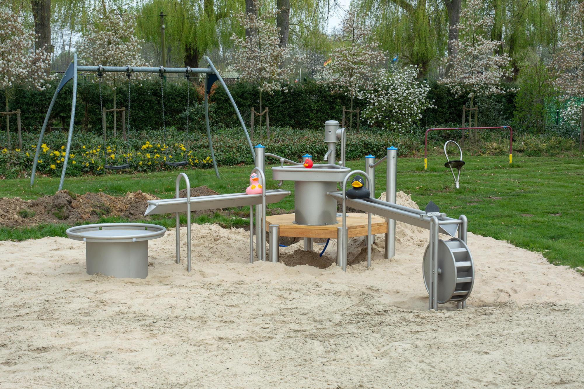Wasserspielplatz im Freibad Rheda