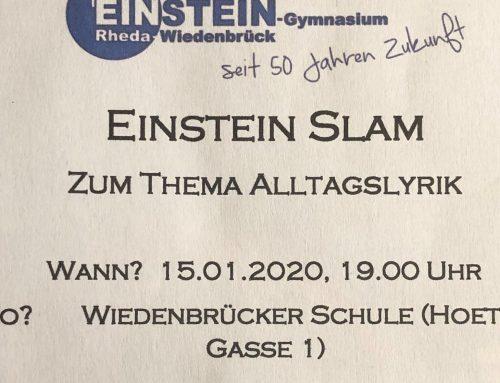 Einstein Slam im Museum – Poetry Slam zur Alltagslyrik