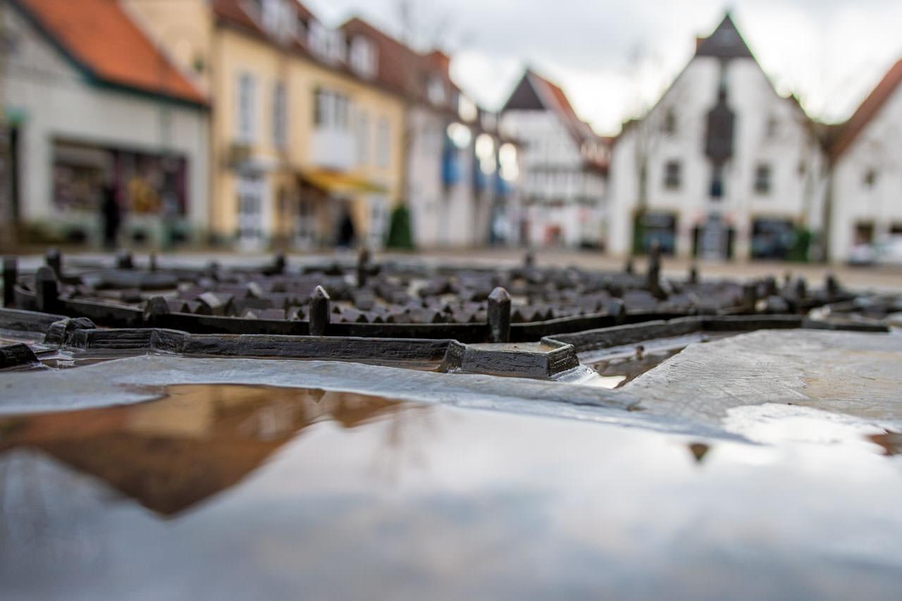 Bronzestadtplan Wiedenbrück