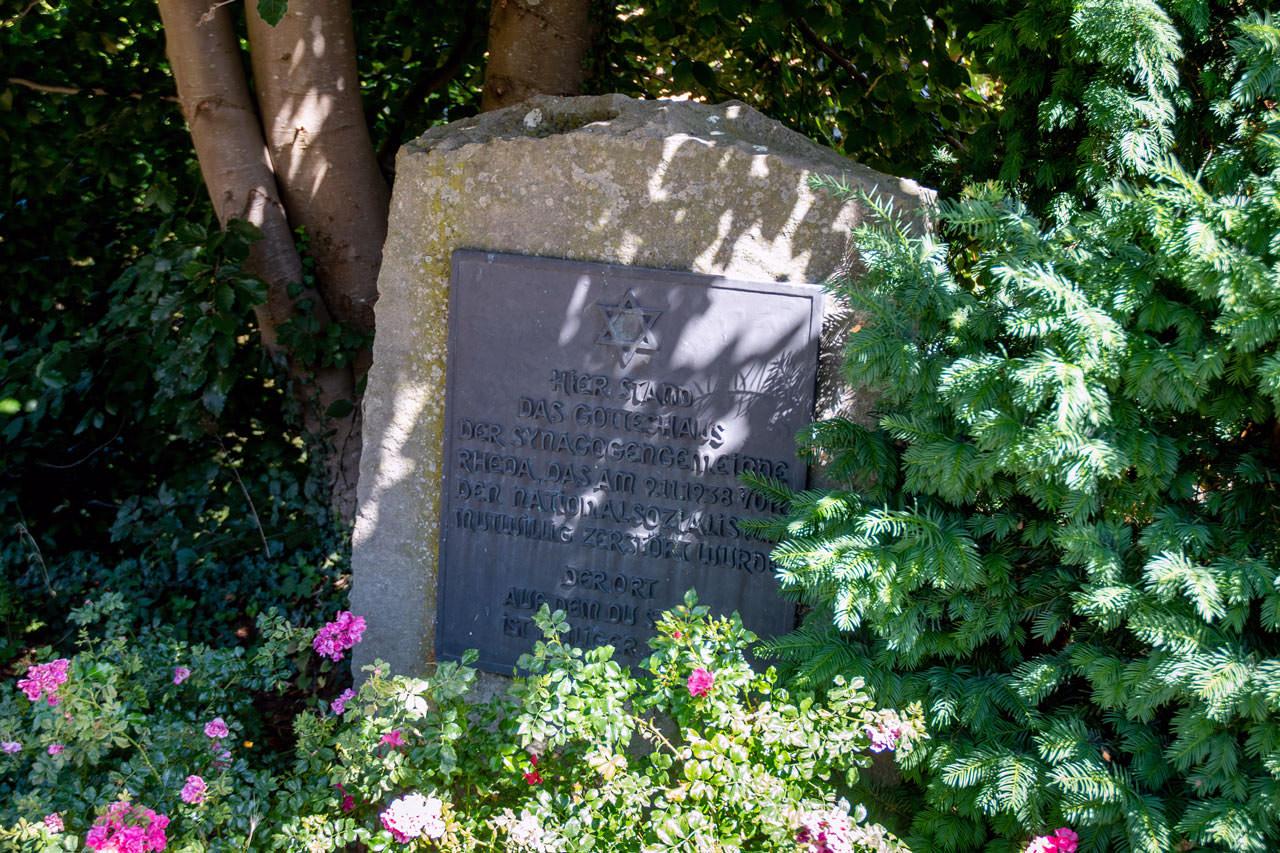 Gedenkstein, Synagoge, Steinweg