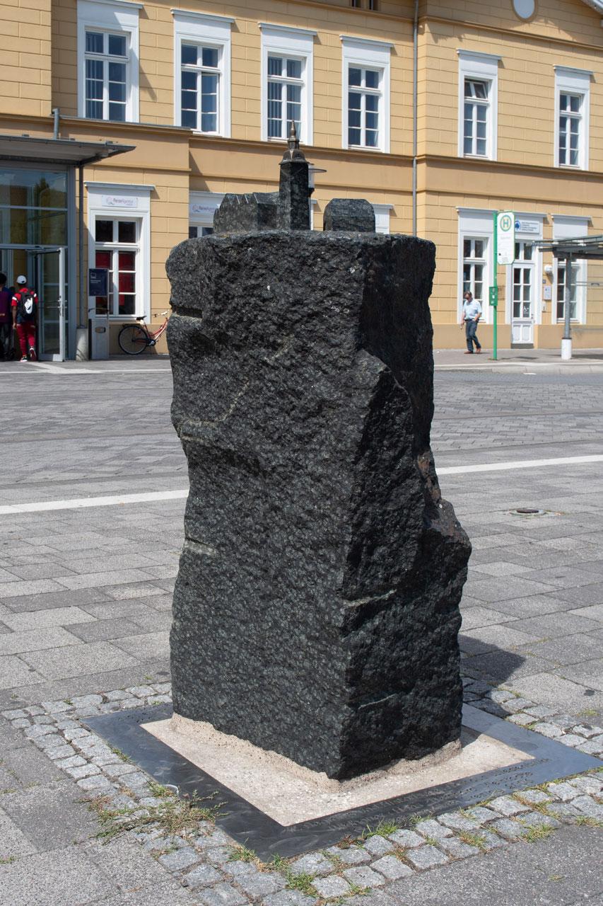 Stele Wiedenbrück am Bahnhof, Vielstädte